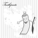 Toothpaste. Retro stylized illustration with toothpaste Stock Photos