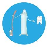Toothpaste vector illustration
