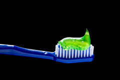 Toothpaste And Toothbrush Royalty Free Stock Photos