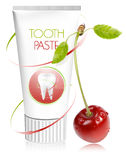 Toothpaste with cherry. Vector illustration. Toothpaste with cherry Stock Image