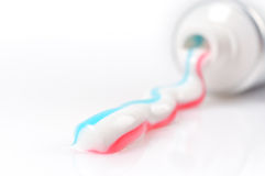 Toothpaste Closeup Stock Images