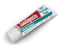 Toothpaste container Stock Image