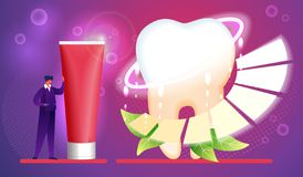Toothpaste. Hygiene, Care, Brushing Teeth Concept. stock illustration