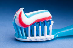 Toothpaste. Macro closeup detail Stock Images