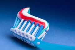 Toothpaste. Macro closeup detail stock images