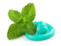 Toothpaste with mint Royalty Free Stock Photo