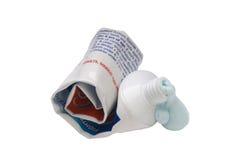 toothpaste som används upp Royaltyfria Bilder