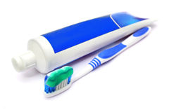Toothpaste And Tooth Brush Royalty Free Stock Photos