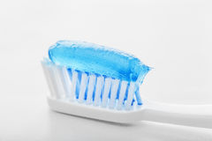 Toothpaste and toothbrush Stock Photography
