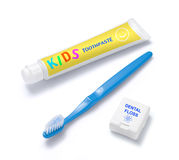 Toothpaste Toothbrush Dental Floss Royalty Free Stock Photos