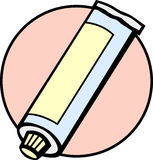 Toothpaste tube vector illustration Stock Images