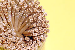 Toothpick. A close up image of a bundle of toothpick royalty free stock images