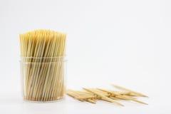 Toothpick. Accessory bamboo birch box bunch bundle stock photos