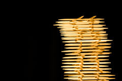 Toothpick. Arranged as a tower, very funny for kitchens royalty free stock image