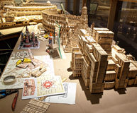Toothpick artist's worktable Stock Images