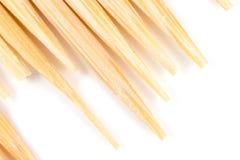 Toothpick auf einem weißen Hintergrund Makro lizenzfreie stockfotos
