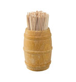 Toothpick and barrel. Toothpick in the wooden barrel Stock Photography
