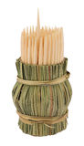 Toothpick de madeira fotografia de stock