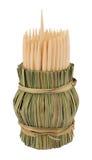 Toothpick di legno fotografia stock