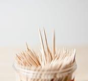Toothpick di legno della cucina immagine stock