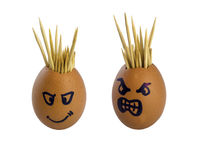 Toothpick in the egg Royalty Free Stock Image