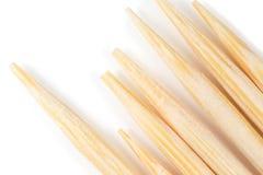 Toothpick en un fondo blanco Macro imagenes de archivo