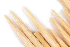 Toothpick en un fondo blanco Macro imagen de archivo