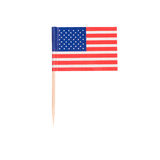 Toothpick Flag USA Stock Photo