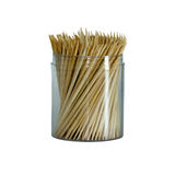 Toothpick on isolated white background Royalty Free Stock Photos