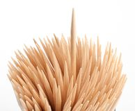 Toothpick macro Royalty Free Stock Photography