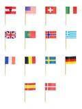 Toothpick-Markierungsfahnen Stockbilder