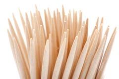 Toothpick no fundo branco imagem de stock