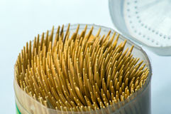 Toothpick pile close up photography Royalty Free Stock Image