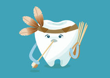 Toothpick of red indian theme Stock Images