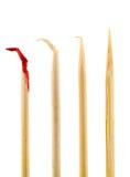Toothpick sanguinante Fotografie Stock Libere da Diritti