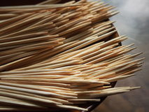 Toothpick. Some toothpick on a plate stock image