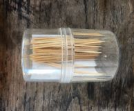 Toothpick. From bamboo stock image