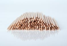 Toothpick toothpick on lite grey background Stock Photos