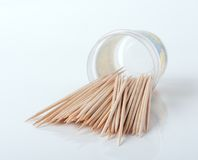 Toothpick toothpick on lite grey background Royalty Free Stock Photo