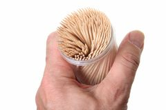 Toothpick. Stack of toothpick on white background royalty free stock photo