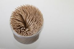 Toothpick. Stack of toothpick on white background royalty free stock images