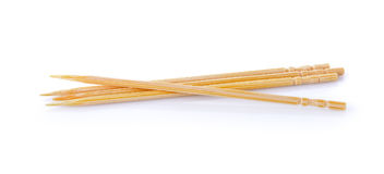 Toothpick on white background stock photography