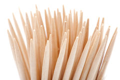 Toothpick on white background Stock Image
