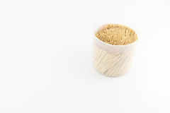 Toothpick on white background Stock Image