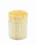 Toothpick on white background. Toothpick on isolate white background Royalty Free Stock Photos