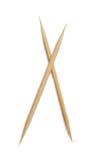 Toothpick on white background stock photos