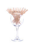 Toothpick on white background Stock Images
