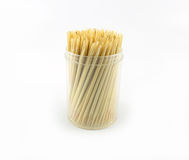 Toothpick white background. Wood wooden Stock Photography
