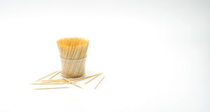 Toothpick on the white, Toothpick spill, Toothpick slant Stock Photography