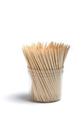 Toothpicks. Toothpicks in a plastic transparent glass Stock Photography